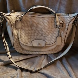 White Coach purse roomy and barely used